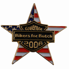 Custom metal five star lapel pin badge