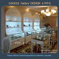 personalizado de alta qualidade jóias armário de exposição da loja com luzes led
