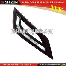 SIZZLE accessoires Chrome ABS for Hyundai Sonata Accesorios LED Daytime Running Light DRL White Daylight Kit Fog Lamp