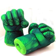 The Hulk Smash Hands Fists Big Soft Plush Kids Hand Gloves
