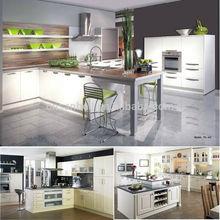 Modern E1 modular MDF lacquer melamine fancy kitchen cabinet door handles