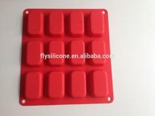 Eko- dostu ısıya dayanıklı 12 delikli silikon sabun kalıpları