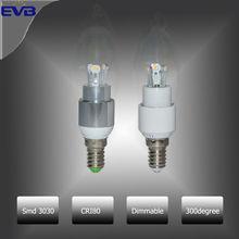 4w Lampade Aluminum Warm White Chandelier C37 12 volt led lighting fixtures