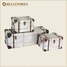 Classic antique furniture aluminum trunk fuzhou manufacture