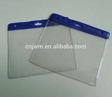 Transparent pvc plastic name card holder