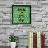 China Factory Wall Decor PS picture photo frame free download software House with Silk-Screen Letters