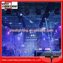 Flexible video mesh creative display nightclub/bars/P80 LED mesh Screen/ led tv HD video wall