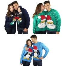 2015 fashon hand knitted Xmas novelty reindeer christmas jumpers