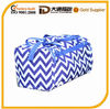 Large Royal Blue and White Chevron Gym Bag Personalized