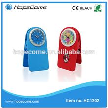 (HC1202) Cheap plastic desk clock Indian goods