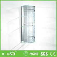 Factory price mdf wardrobe with sliding mirror doors design