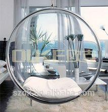 modern design acrylic hanging egg chair