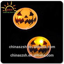 Hot Sale Custom Led Flashing Light Up Halloween Badge