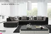 Fabric sofa manufacturer for latest dark grey fabric sofa