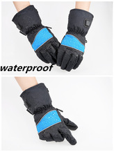 Electric Battery Heated Gloves, AA Battery Power, Waterproof, Windproof For Ski
