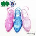 Precio barato chna colourfull de la jalea pvc mujeres de la sandalia 2015
