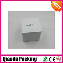 2014 luxury white customized small wood ring box