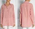 venda quente vermelho e branco listras moda feminina blusa clássica