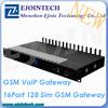 12 Months Warranty! New arrival 16 channel 128sim gsm device goip gateway free registration