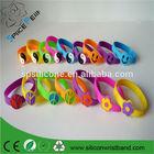 """7"""" Silicone Bracelet Wristband Peace/ Smile Face/ Yin Yang"""