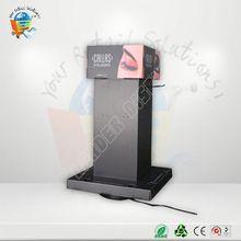 OEM promotion pull up display metal cosmetic floor display stand