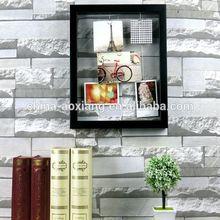 Quadro decoração festa foto DIY pendurado banhado a clipes com fotos - 5 P moldura cromada e sofá de couro