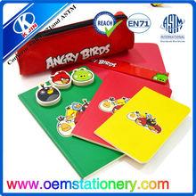 2014 hotsale lovely cartyoon design nylon stationery set,school student stationery kit