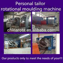 N arm rotational molding machine baking molds