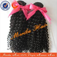 Fast shipping 1b# black 100% human hair weave,top fashion afro kinky human hair