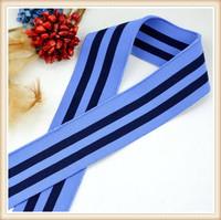 Nylon blue stripped elastic band/elastic rubber/ elastic shoulder tape for sport /underwear/top/pants