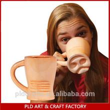 Humorous design handmade ceramic pig nose mug