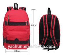 Slim street ski backpack skate backpack skate bag with laptop sleeve