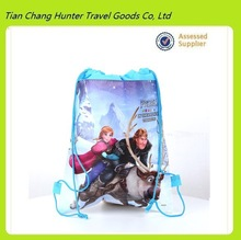 frozen non-woven fabric printing drawstring bag and other cartoon bag