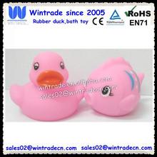 Small pvc duck & mini bath fish china toy OEM design animal