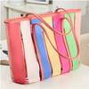 chinese handbags wholesale colorful pvc beach bag , high end fashion ladies handbag