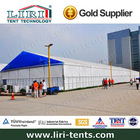 50m Width outdoor large temporary clear span tradeshow canopy tent for festival