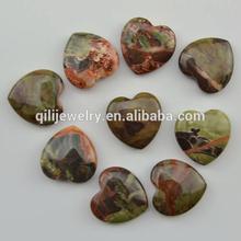 Wholesale Semi-precious Stone Jewelry,Natural Multi-Color Agate Heart Pendants