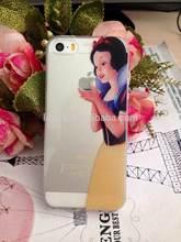 For iPhone 4 4S 5 5S Princess Snow White Frozen Elsa Mermaid Ariel Cinderella Rapunzel Jasmine Belle Tinker Bell Logo Clear Case