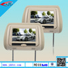 """Headrest 7"""" LCD Car Monitors with Region Free DVD player USB SD Wireless Dual Channel Headphones and 8 and 32 Bit Games"""