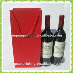 custom red wine paper bag/handle wine bag in guangzhou
