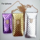 2014 PU leather phone bag handphone case for iphone 4g 5g with chain