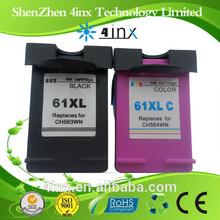 cartridge ink for H61XLBK(CC563WN) H61XLC(CC564WN),Remanufactured ink cartridge H61XL for Deskjet 1000