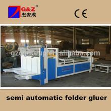 semi-auto corrugated paper box folding and gluing machine