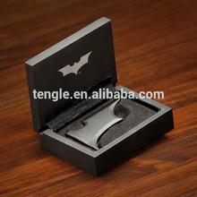 batman money clip with black box/ metal folding money clip/ standard size money clip