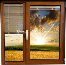 European standard windows with internal blinds