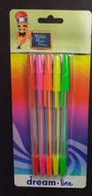 Hot stick ball pen with clip in 10 different colors blistercard packing
