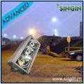 Bianco freddo ha portato albero di luce led ad alta palo della luce argento- rivestito riflettore stadio palo lampade- Singin