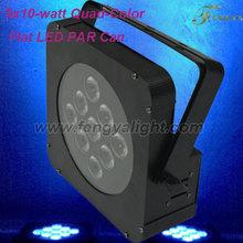 Quad Flat led par light 9PCS*10W 4 in 1 stage light