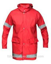 reflective tape long style safety jacket protect raincoat