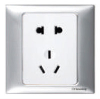 Good quality easy installation low consumption 1gang/2gang function of socket outlet